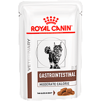 Влажный корм Royal Canin Gastro Intestinal Moderate Calorie для кошек, 0,085КГ 12шт