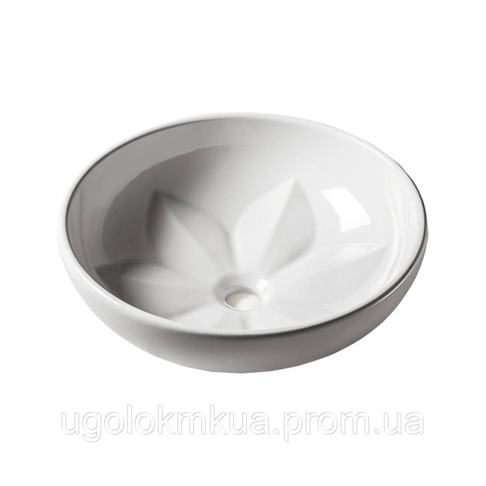 Раковина-чаша Azzurra Fleur FLE200B1 Shiny white