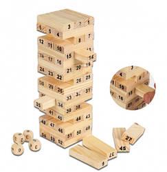 Настольная игра Падающая башня Wiss Toy (Дженга) 54 блока