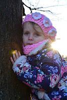 Куртка демисезонная для девочки «Цветочная» код 1-329