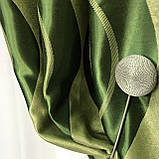 Готові штори на тасьмі Штори блекаут Штори на 150 270 Якісні штори Колір Зелений, фото 3