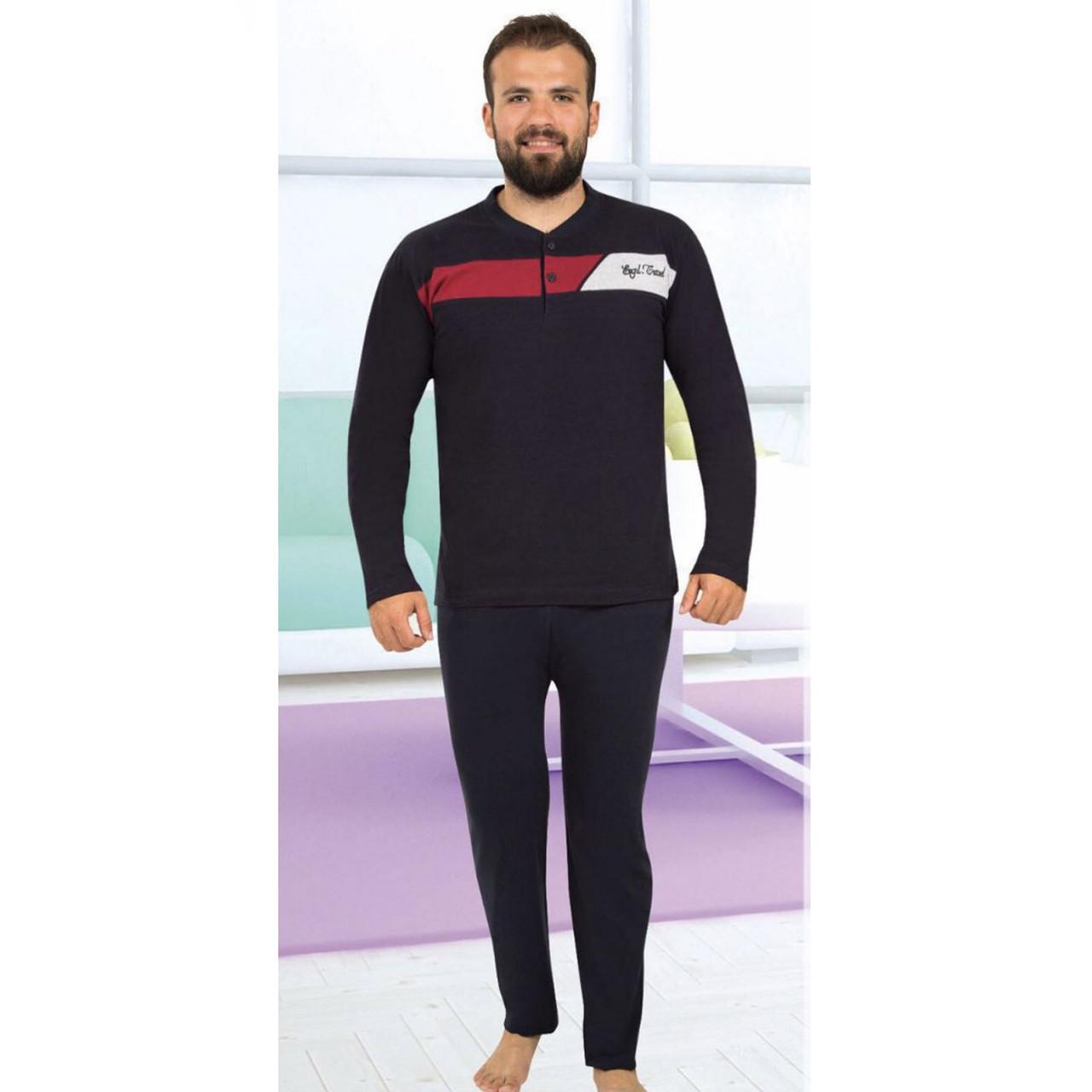 Піжама чоловіча бавовняна з брюками Seyko, костюм для будинку 2065 розмір M