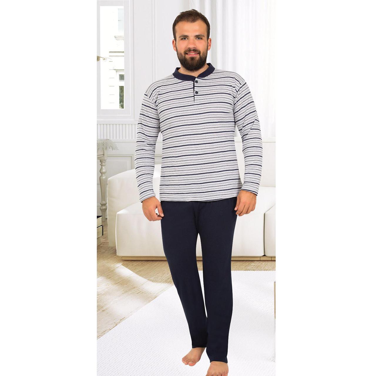 Пижама мужская хлопковая с брюками Seyko костюм для дома 820