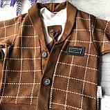 Детский нарядный костюм на мальчика 720. Размер 74 см, фото 3