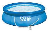 Детский надувной бассейн INTEX 28122 круглый для дома и дачи наливной семейный (305x76 см) + фильтр, фото 4