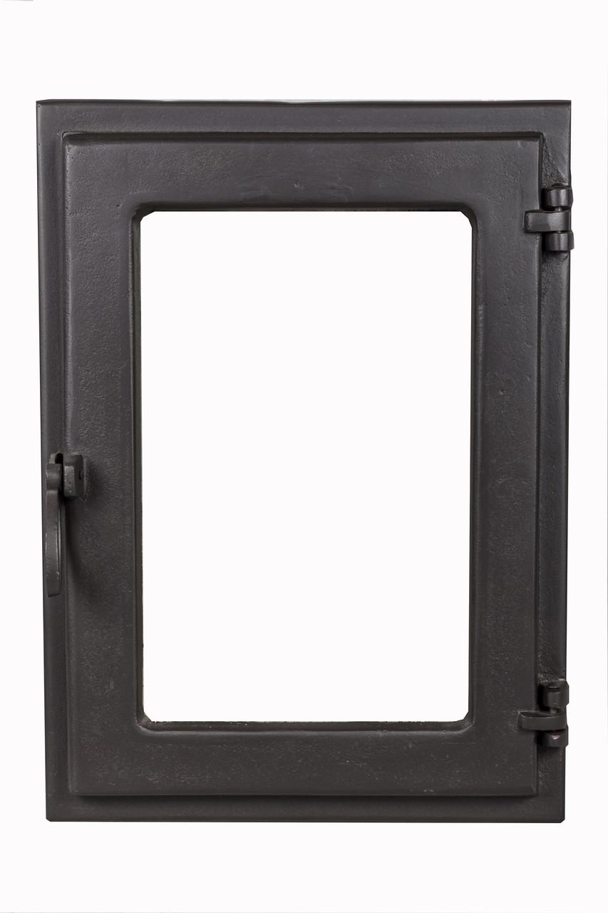 Стеклянная дверца для камина - VVK 35 х 49 см/31х45см