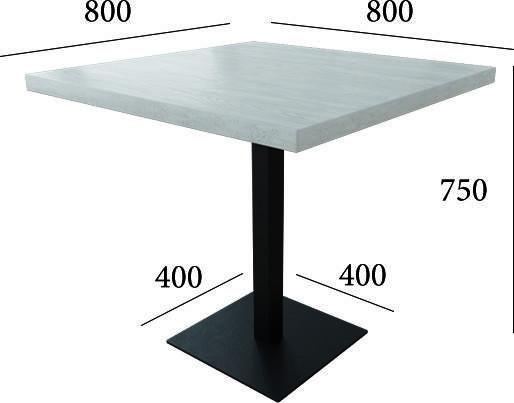 Стол столик кухонный обеденный скандинавский в стиле лофт Тренд Металл-Дизайн / Metall Design, фото 2