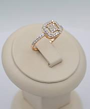 Золотое кольцо 585 пробы Квадрат помолвлчное