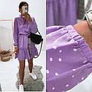 Женское Платье В Горох Лавандовое, фото 5