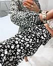 Жіноче Плаття Чорне Квіткове, фото 4