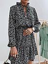 Жіноче Плаття Чорне Квіткове, фото 5