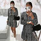 Жіноче Плаття Чорне Квіткове, фото 9