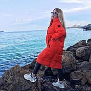 Яскравий довгий пуховик TOWMY TM-AJ-3262-oranje, фото 6