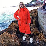 Яскравий довгий пуховик TOWMY TM-AJ-3262-oranje, фото 3