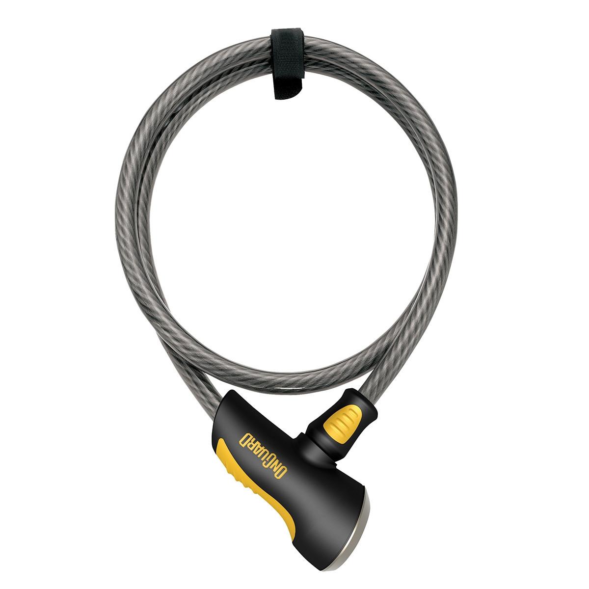 Велозамок Onguard 8040 AKITA 185см х 12мм Чорний