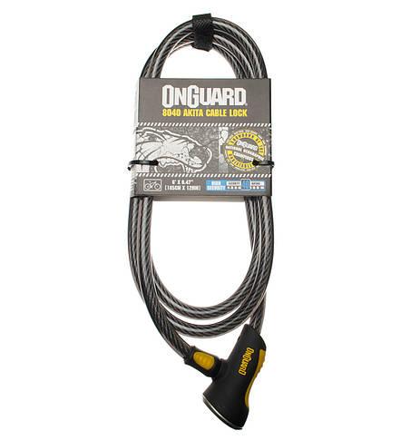 Велозамок Onguard 8040 AKITA 185см х 12мм Чорний, фото 2