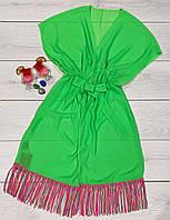Яркая молодежная прозрачная туника - платье.