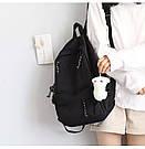 Рюкзак для подростков черный Goghvinci., фото 4