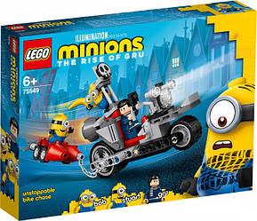 Lego Minions Неймовірна гонитва на мотоциклі 75549
