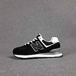Жіночі кросівки демісезонні New Balance 574 весна осінь чорні. Живе фото. репліка, фото 4