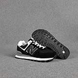 Жіночі кросівки демісезонні New Balance 574 весна осінь чорні. Живе фото. репліка, фото 2