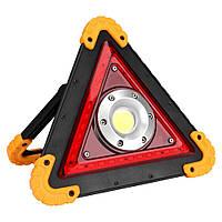 Аварийный треугольник, светильник на солнечной батарее, 10Вт IP54 с USB LMP93