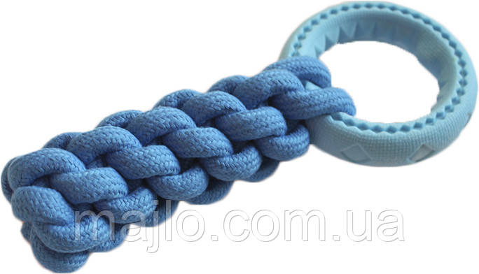 9567 Игрушка кроссфит с кольцом AnimAll GrizZzly 9567 24х10 см Синий (6914068019567)