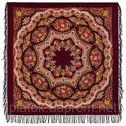 Браслет 351-7, павлопосадский платок шерстяной с шерстяной бахромой