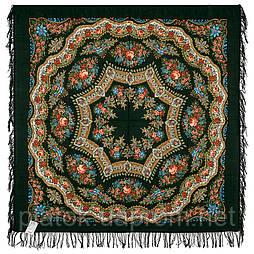 Браслет 351-30, павлопосадский платок шерстяной с шерстяной бахромой