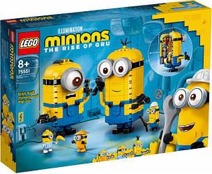 Lego Minions Фігурки міньйонів і їх будинок 75551