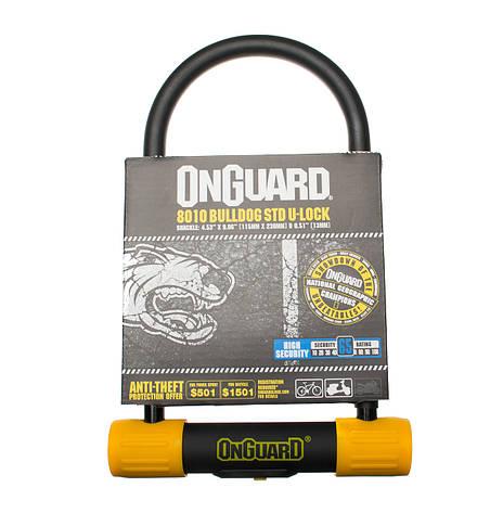 Велозамок Onguard U-lock 8010 BULLDOG STD 115x230 Чорний з жовтим, фото 3