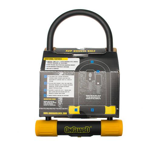 Велозамок Onguard U-lock 8010 BULLDOG STD 115x230 Чорний з жовтим, фото 2