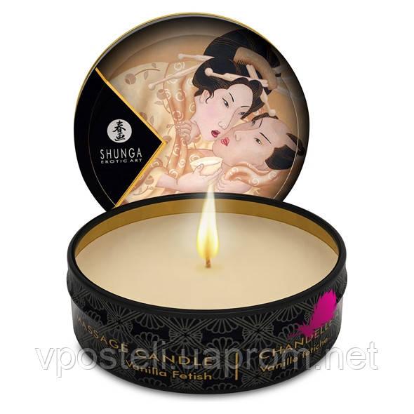 Свічка для масажу Shunga з ароматом ванілі