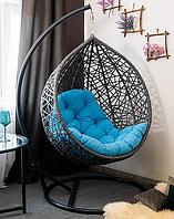 Садовое подвесное кресло качели кокон Gard gray, подвесное кресло яйцо, кресло-качели,подвесные садовые качели