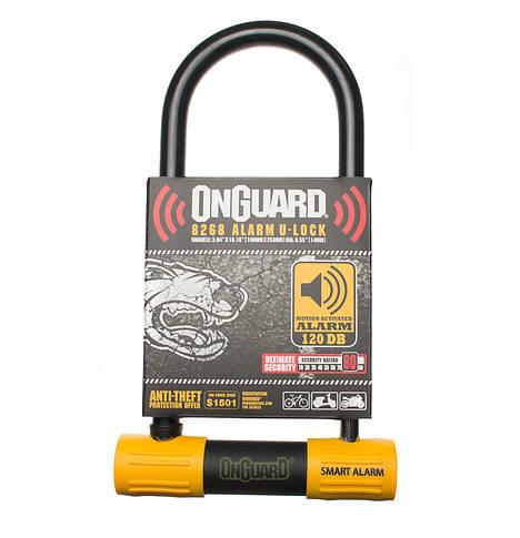 Велозамок Onguard U-lock 8268 Smart Alarm 100 x 258 Чорний з жовтим, фото 2
