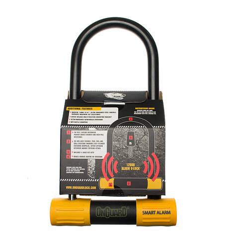 Велозамок Onguard U-lock 8268 Smart Alarm 100 x 258 Чорний з жовтим, фото 3