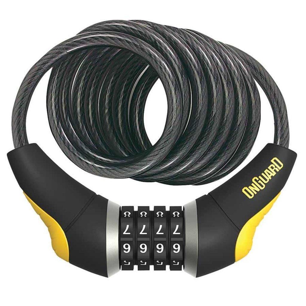 Велозамок кодовий Onguard 8031 DOBERMAN 185см х 12мм Чорний