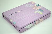 """Полуторні постільні комплекти Фланель """"Квіти на рожевому"""", фото 1"""