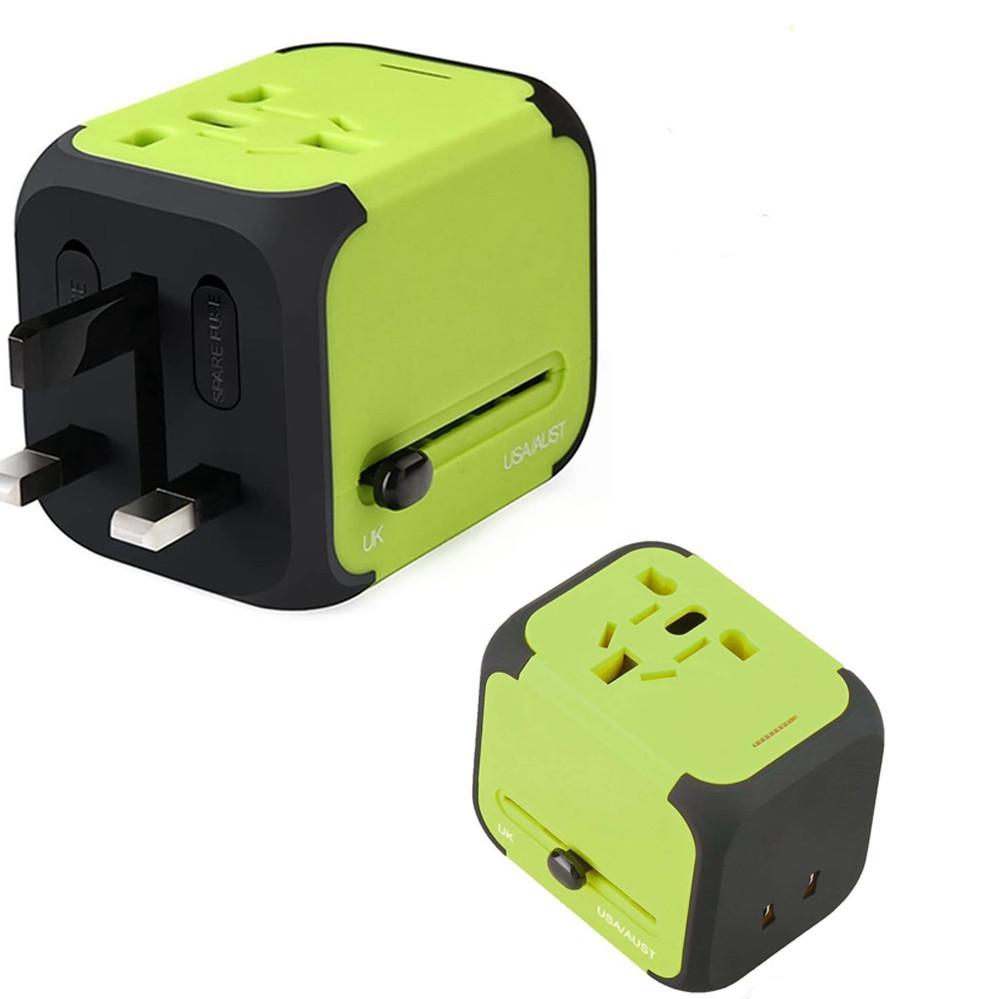 Універсальний мережевий адаптер для подорожей 2 USB Adapter Travel ORIGINAL Перехідник для всіх типів розеток