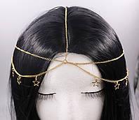 Вінтажна Тіара (прикраса) на голову Зірки (золото) №44, фото 1