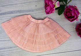 Юбка для девочек на резиночке Розовый Хлопок/полиэстер Бэмби Украина