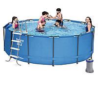Каркасный бассейн Bestway 5614S, 366 х 122 см (фильтр насос 2 006 л/ч, лестница)