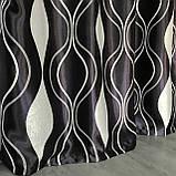 Готовые шторы на тесьме Шторы блэкаут Шторы 150 на 270 Качественные шторы Цвет Черный, фото 2