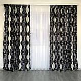 Готовые шторы на тесьме Шторы блэкаут Шторы 150 на 270 Качественные шторы Цвет Черный, фото 5