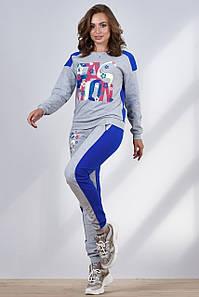 Женский спортивный костюм с цветными надписями (1203-1199-1201 svt)