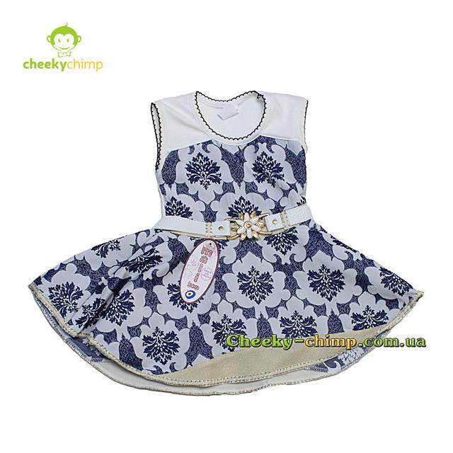 Нарядное платье для девочки синие на 2, 3, 4 года