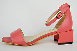 Босоножки на невысоком каблуке Lady Marcia 18733 37 Розовый кожа