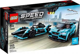 Lego Speed Champions Jaguar Racing GEN2 car & Jaguar I-PACE eTROPHY 76898