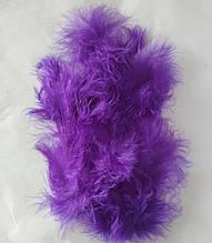 Перья декоративные фиолетовый (5-8см) 100шт