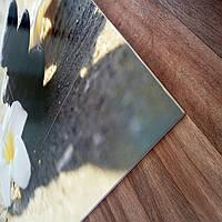 Панно на керамической фотоплитке - Белый цветок и Черные камни 5